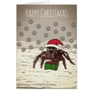 名前入りな名前の幸せなくものクリスマスカード カード