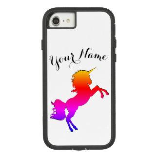 名前入りな名前の虹のユニコーン Case-Mate TOUGH EXTREME iPhone 8/7ケース