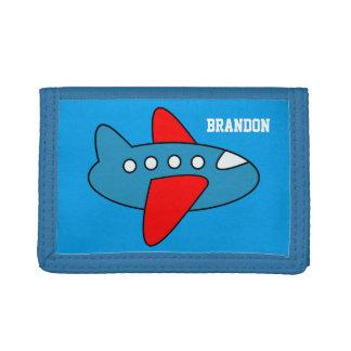 名前入りな名前はおもちゃの飛行機が付いている札入れをからかいます