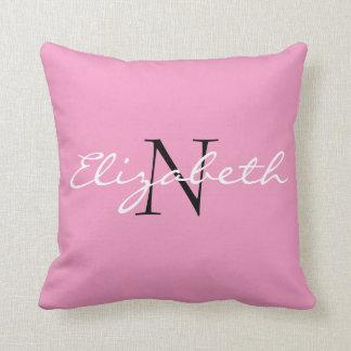 名前入りな固体Pink.Cartoonカップケーキのコレクション クッション