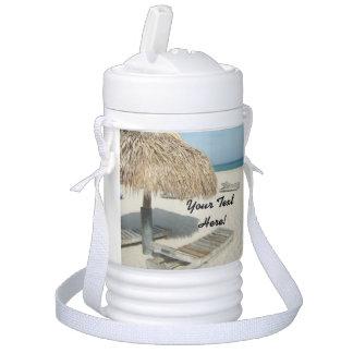 名前入りな夏のビーチの休暇の小屋の海 ドリンククーラー