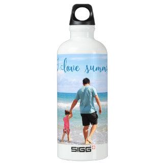 名前入りな夏の白濁水のボトルは写真を加えます ウォーターボトル