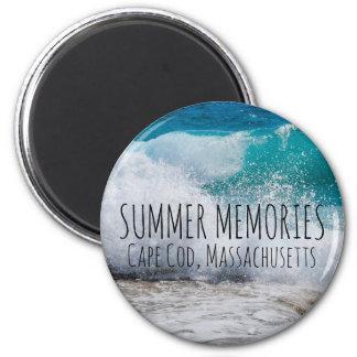 名前入りな夏の記憶ビーチ マグネット