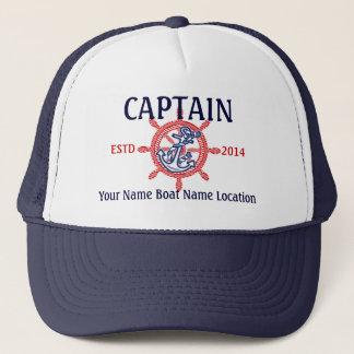 名前入りな大尉一等航海士の飛ぶ人あなたの帽子 キャップ