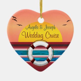 名前入りな好意を結婚する巡航 セラミックオーナメント