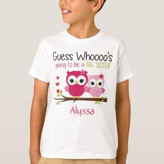名前入りな姉のフクロウ Tシャツ