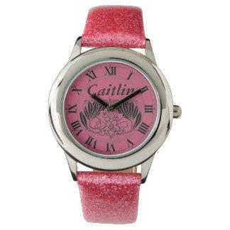 名前入りな子供のヴィンテージスタイルの腕時計 腕時計