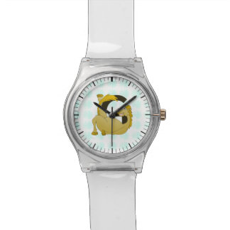 名前入りな子馬のモノグラムの手紙G 腕時計