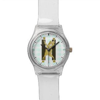 名前入りな子馬のモノグラムの手紙H 腕時計
