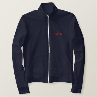名前入りな学校の精神トラックジャケット 刺繍入りジャケット