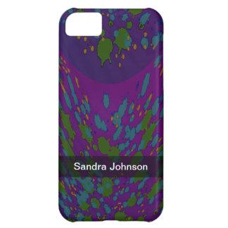 名前入りな宇宙紫色の抽象芸術 iPhone5Cケース