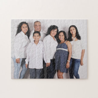 名前入りな家族写真 ジグソーパズル
