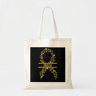 名前入りな小児科の蟹座の認識度のリボンのバッグ トートバッグ