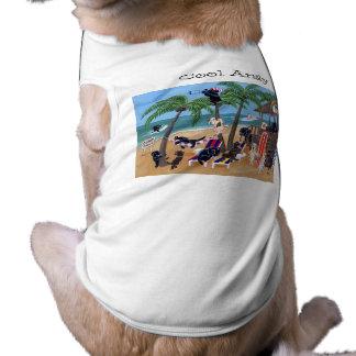 名前入りな島の夏期休暇のラブラドール ペット服