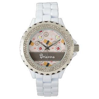 名前入りな平和愛寿司 腕時計