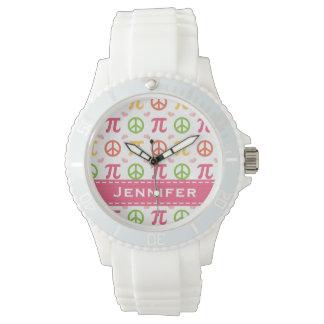 名前入りな平和愛Pi 腕時計
