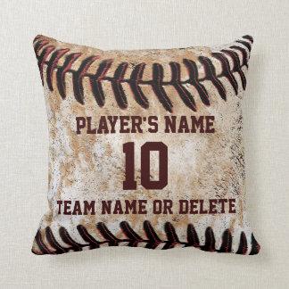 名前入りな年長の野球選手のギフトのアイディア クッション