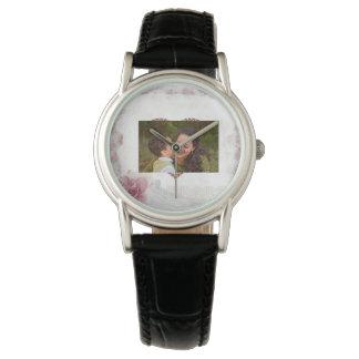 名前入りな幸せな母の日のハート 腕時計