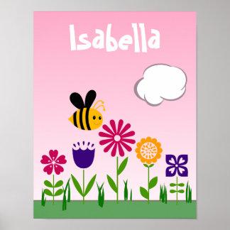 名前入りな幸せな蜂の花園 ポスター