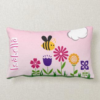 名前入りな幸せな蜂の花園 ランバークッション