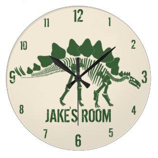 名前入りな恐竜の骨 ウォールクロック