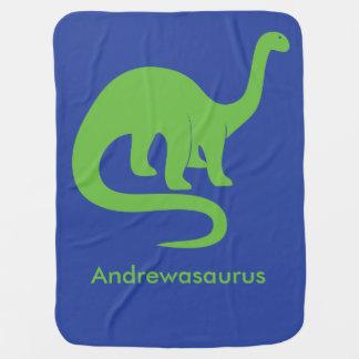 名前入りな恐竜毛布 ベビー ブランケット