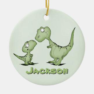 名前入りな恐竜 セラミックオーナメント