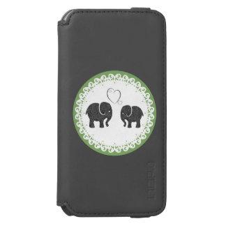 名前入りな愛のかわいく粋でガーリーな象 INCIPIO WATSON™ iPhone 6 ウォレットケース