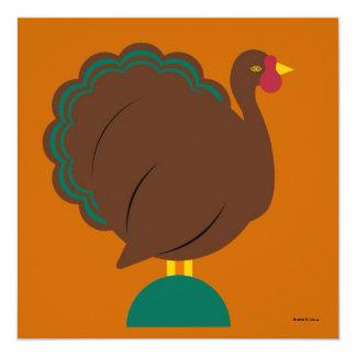名前入りな感謝祭の招待状 カード