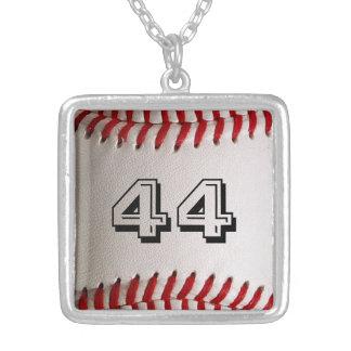 名前入りな数を用いる野球 シルバープレートネックレス