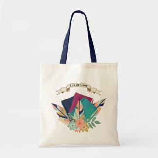 名前入りな旗のBohoの本の花束 トートバッグ