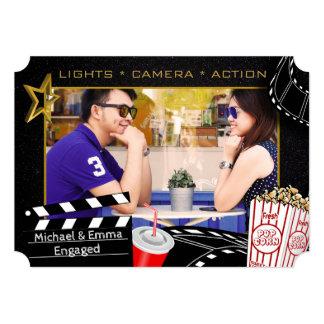 名前入りな映画俳優の招待状 カード