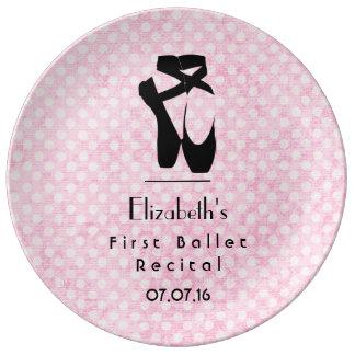 名前入りな最初バレエの演奏会の記念品 磁器プレート