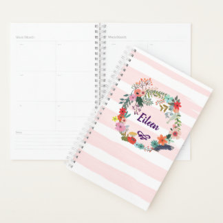 Personalized Monthly Planner. Floral. Bridesmaid