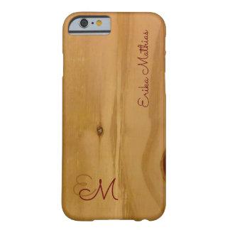 名前入りな木製の穀物の質 BARELY THERE iPhone 6 ケース