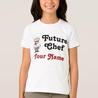 名前入りな未来のシェフはティーをからかいます Tシャツ