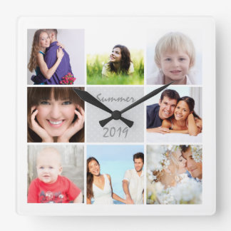 名前入りな柱時計の家族またはカップルの写真 時計