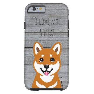 名前入りな柴犬犬のiPhoneの場合 ケース