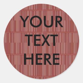 名前入りな棒の木製の床のグラフィック 丸型シール