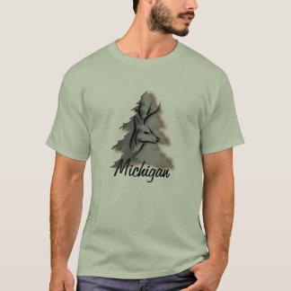 名前入りな森のカスタムの木びき台 Tシャツ