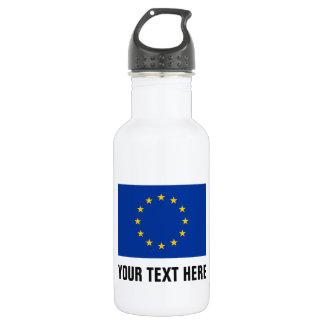 名前入りな欧州連合の旗の水差し ウォーターボトル