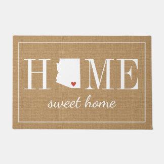 名前入りな歓迎された家のアリゾナのジュートの玄関マット ドアマット