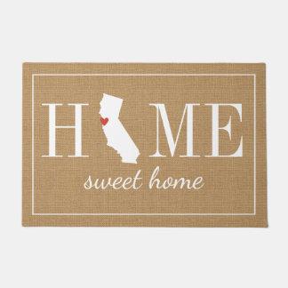 名前入りな歓迎された家カリフォルニアジュートの玄関マット ドアマット