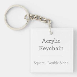 名前入りな正方形のKeychain 正方形(両面)アクリル製キーホルダー