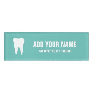 名前入りな歯科医のオフィスの磁気名札 名札