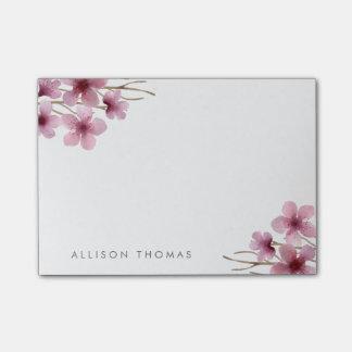 名前入りな水彩画の桜 ポストイット