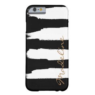 名前入りな水彩画の白いブラシの打撃 BARELY THERE iPhone 6 ケース