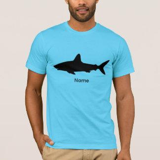 名前入りな水泳の鮫 Tシャツ
