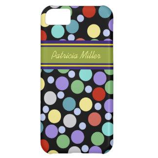 名前入りな水玉模様パターン iPhone5Cケース