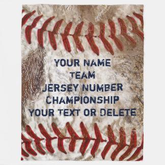 名前入りな汚れた一見の野球のフリースブランケット フリースブランケット